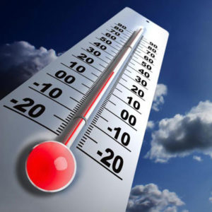 La température de l'air, le degré de pollution de l'air